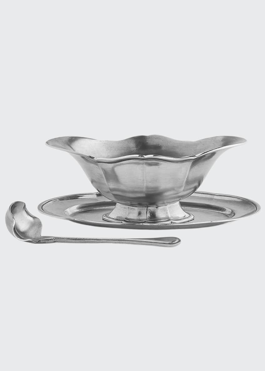 Image 1 of 1: Tavola Gravy Boat with Tray & Ladle