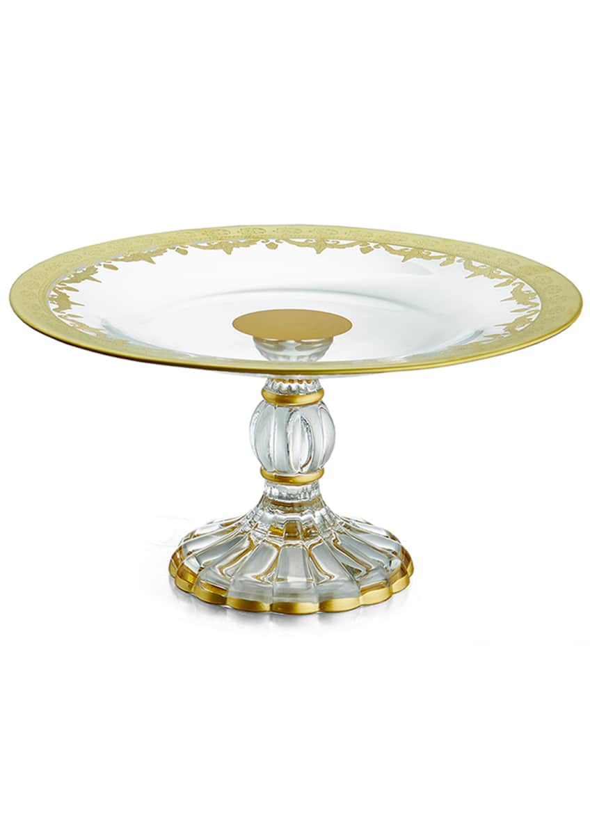 Image 1 of 1: Vetro Gold Petite Cake Stand