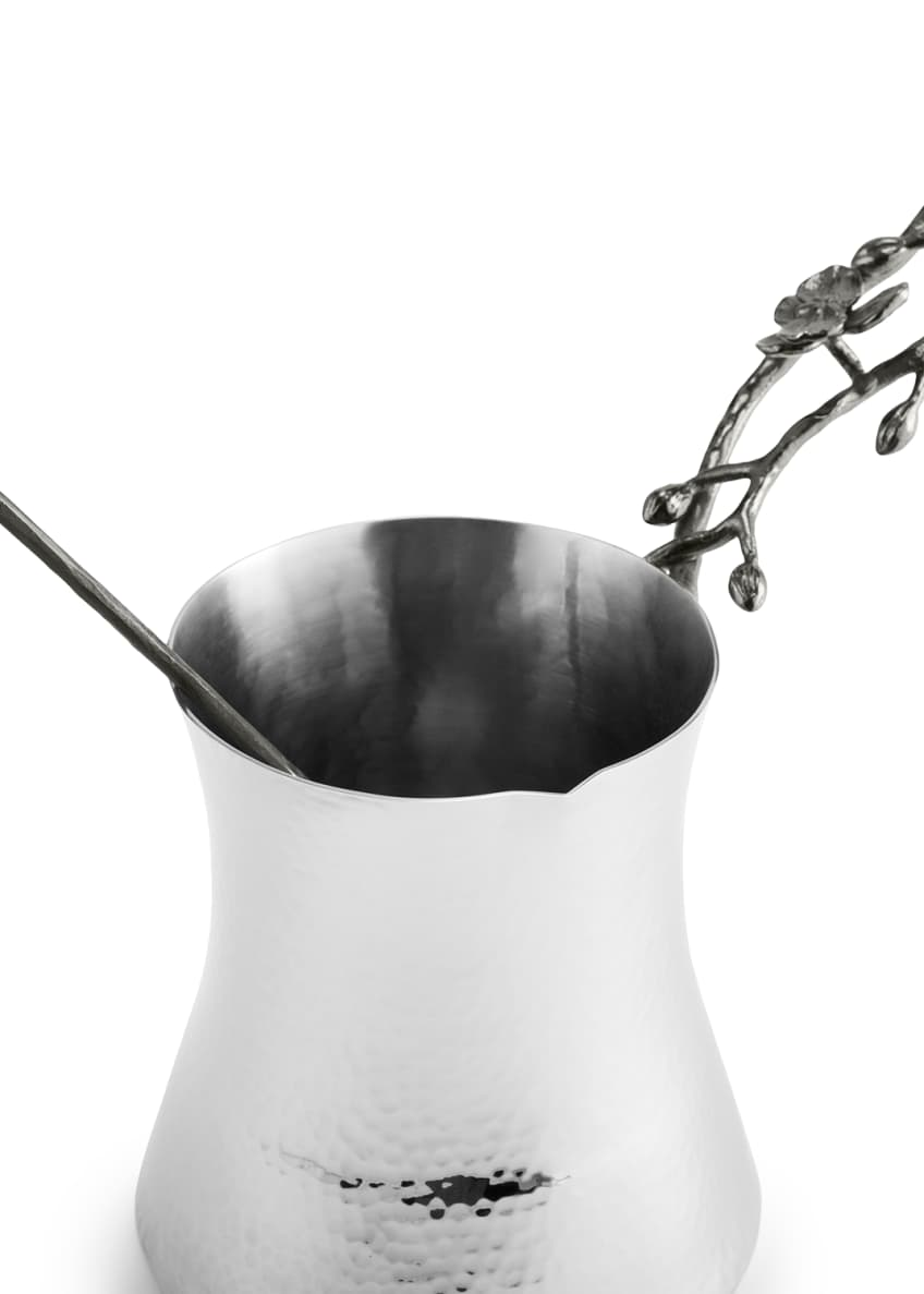 Image 4 of 5: Black Orchid Large Coffee Pot with Spoon