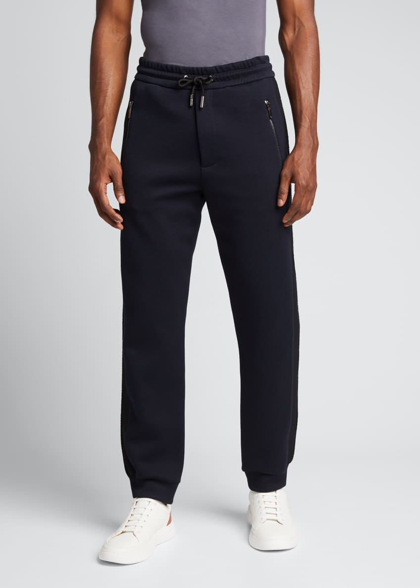 Image 3 of 5: Men's Double-Jersey Jogger Pants