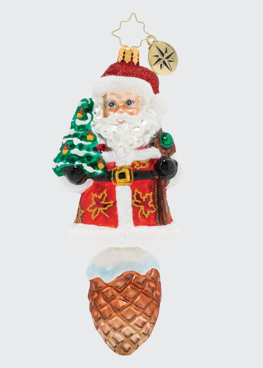 Image 1 of 1: Into The Woods Santa Ornament