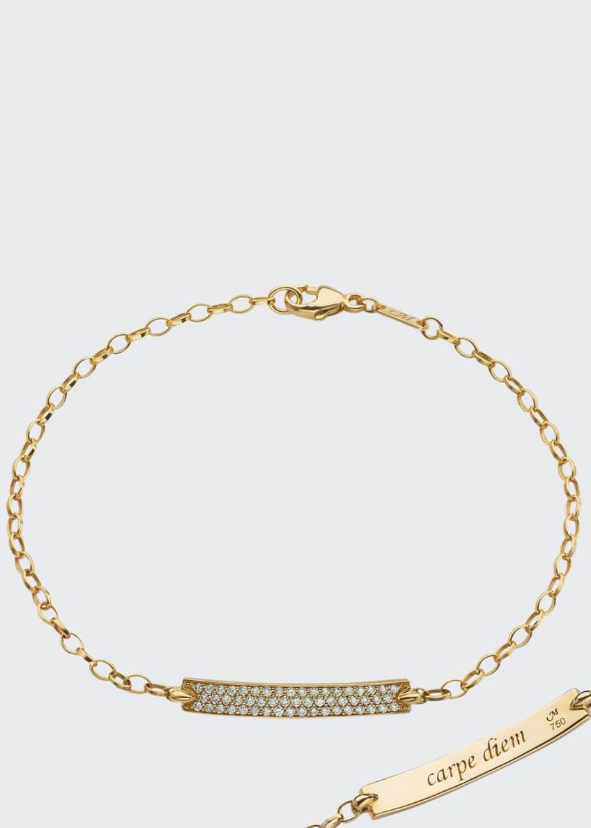 Monica Rich Kosann 18K Yellow Gold Diamond Pave