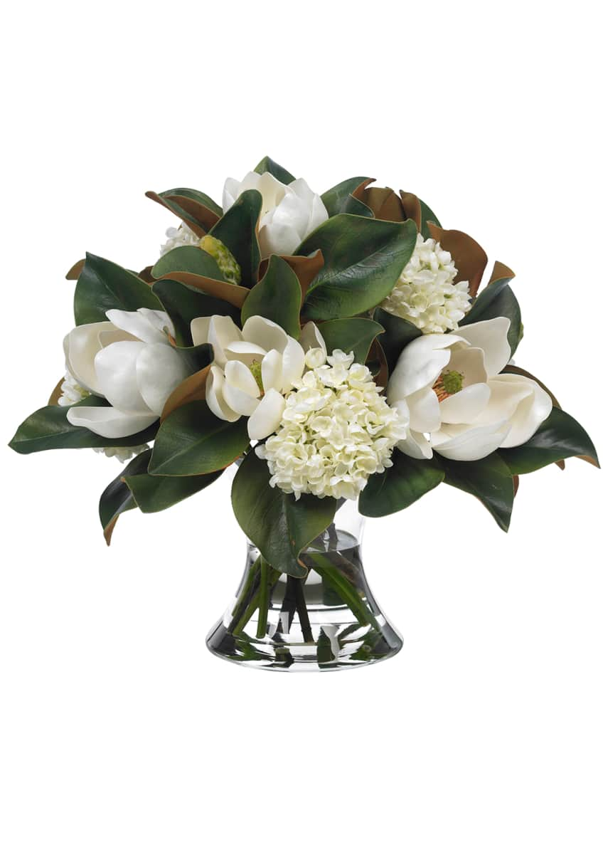 Image 1 of 1: Large Magnolia & Hydrangea Bouquet