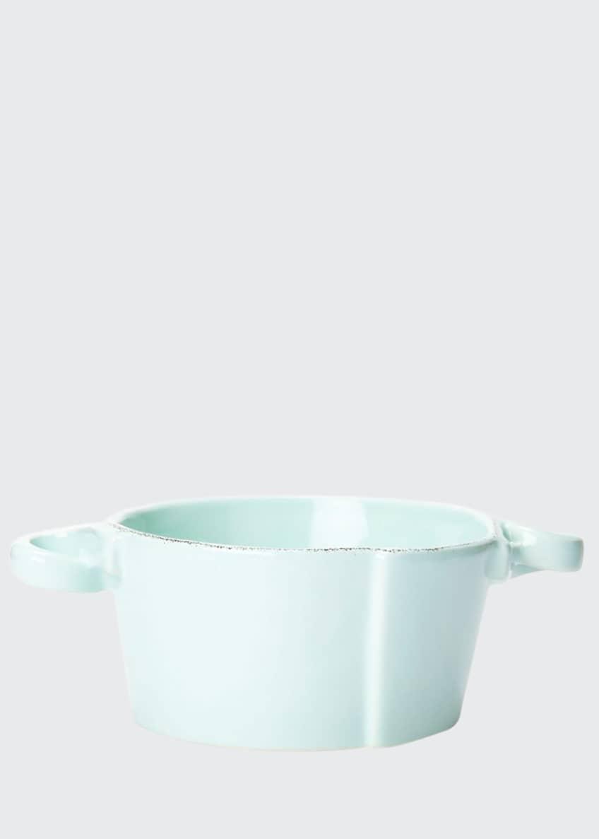 Vietri Lastra Aqua Small Handled Bowl