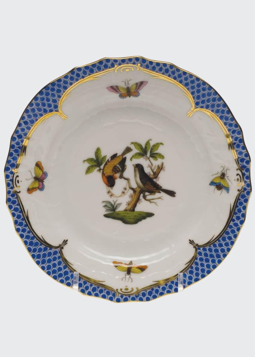 Herend Rothschild Bird Blue Motif 12 Bread &