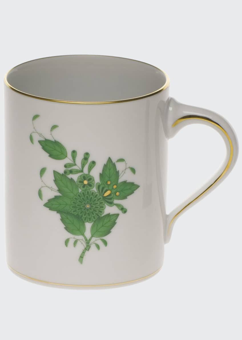 Herend Chinese Bouquet Green Coffee Mug
