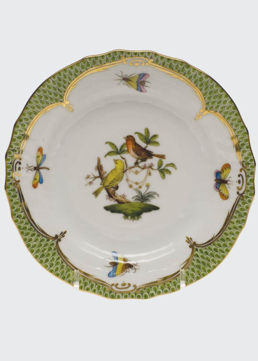 Herend Rothschild Bird Green Motif 6 Bread &