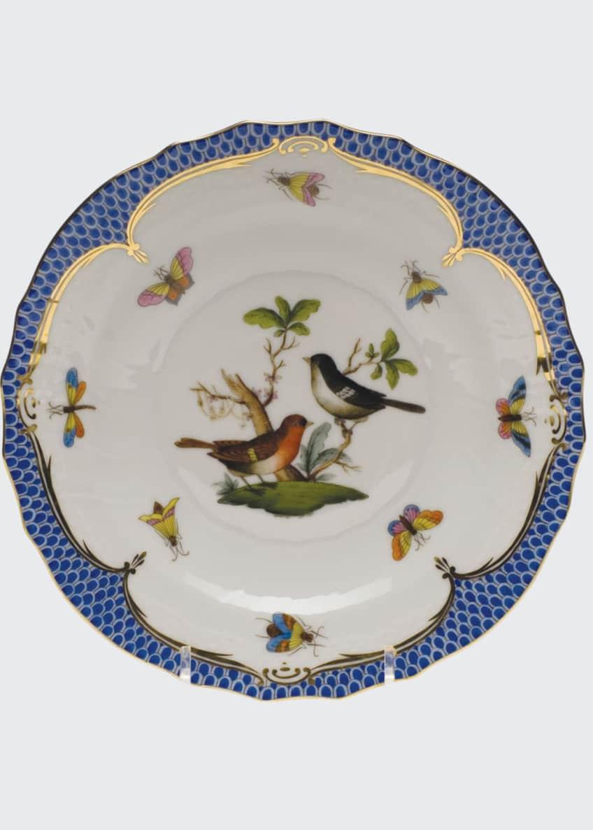 Herend Rothschild Bird Blue Motif 5 Salad Plate