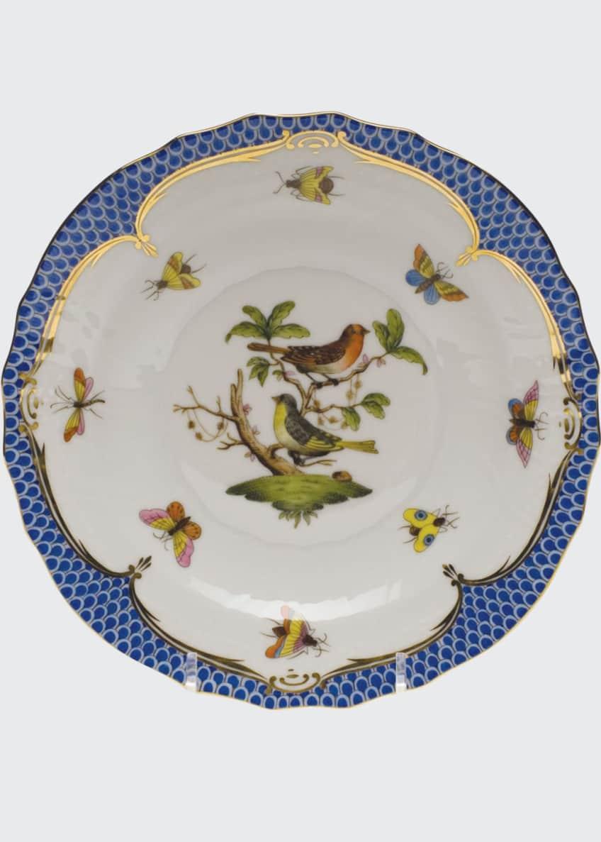Herend Rothschild Bird Blue Motif 3 Salad Plate