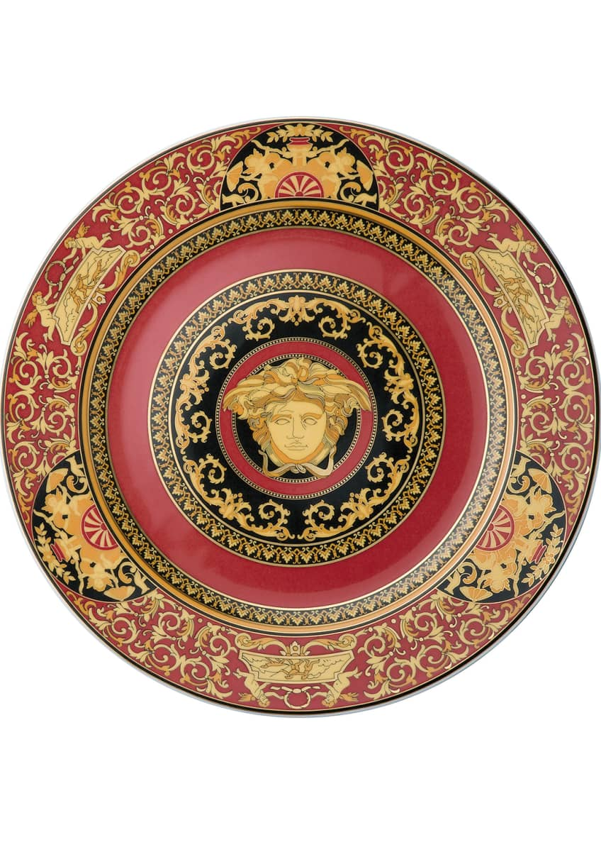 Image 2 of 2: Medusa Red Charger Plate