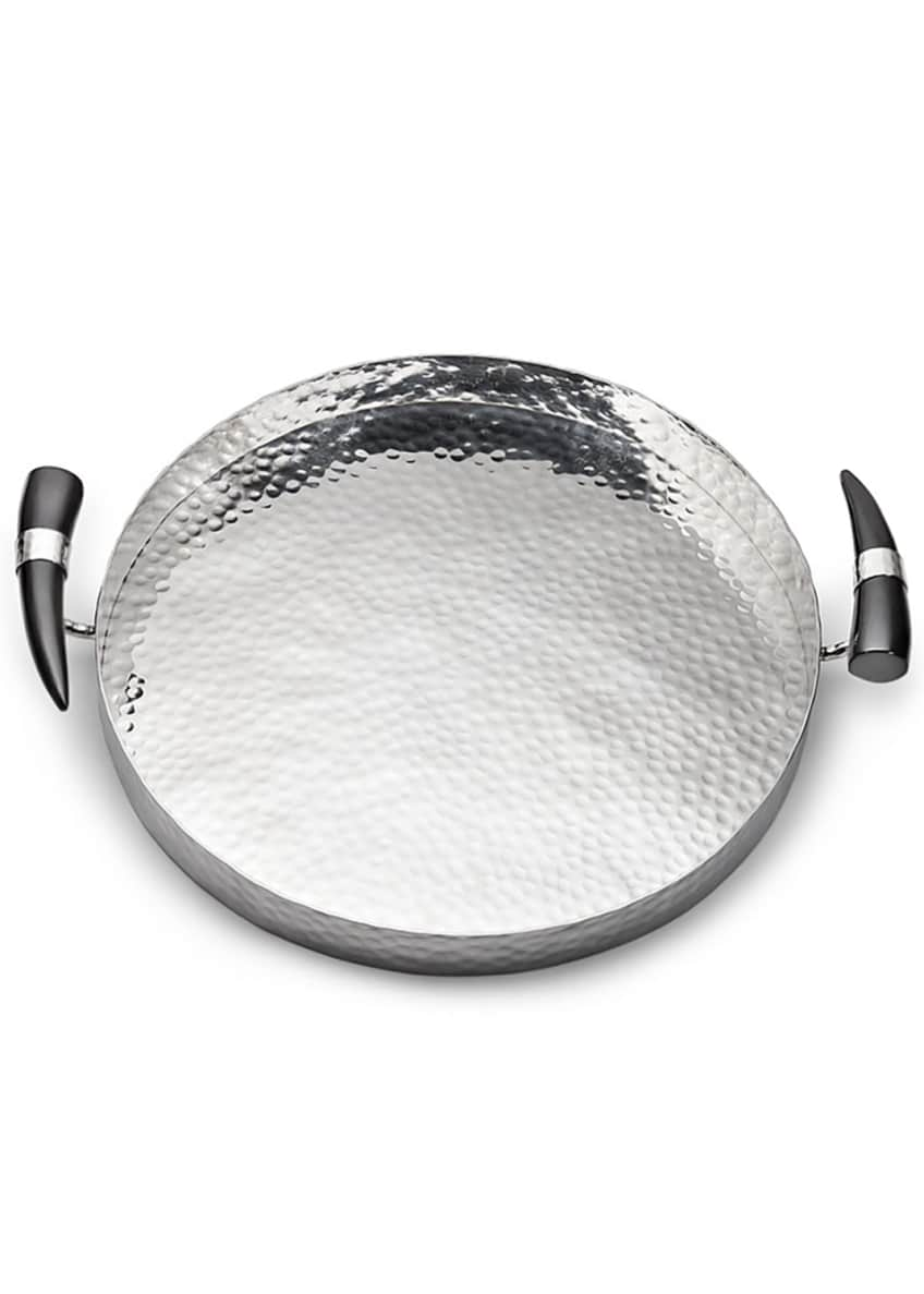 Mary Jurek Orion Round Tray with Horn Handles