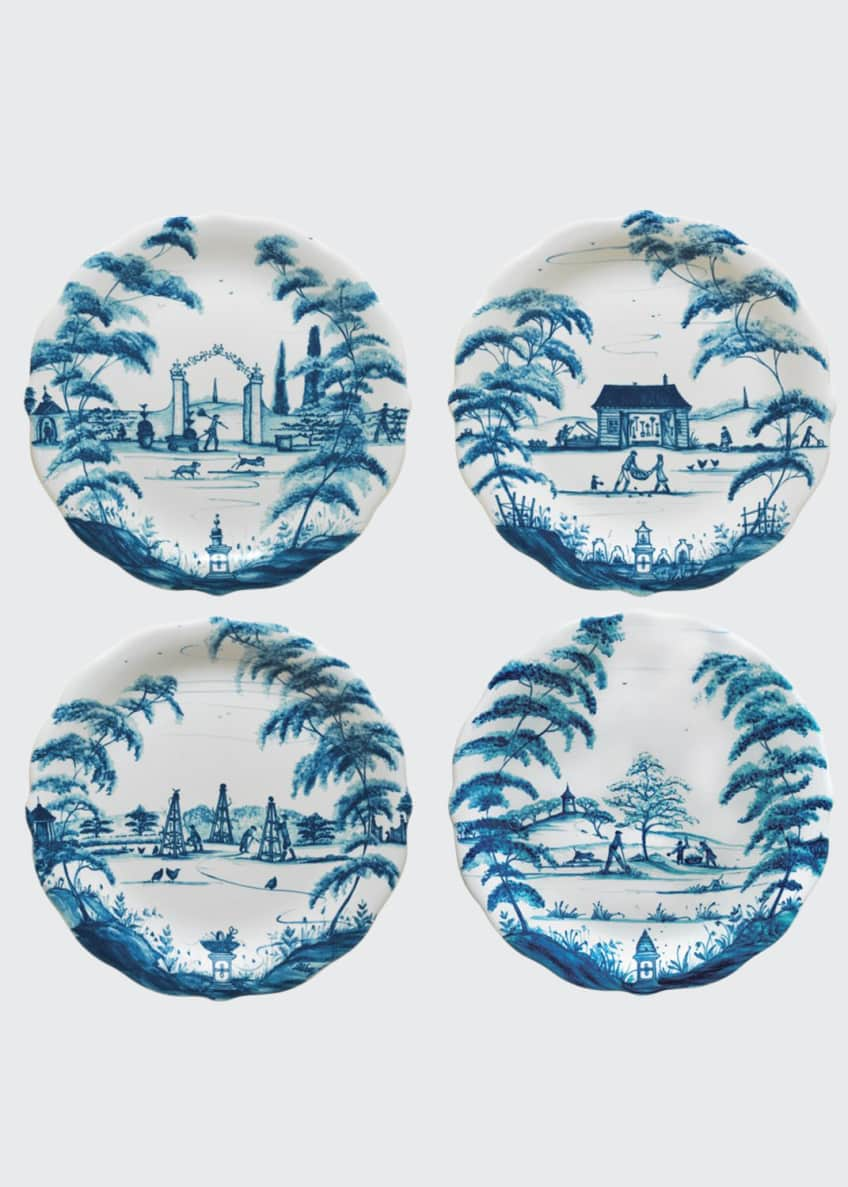 Image 1 of 1: Country Estate Delft Blue Party Plates, 4-Piece Set