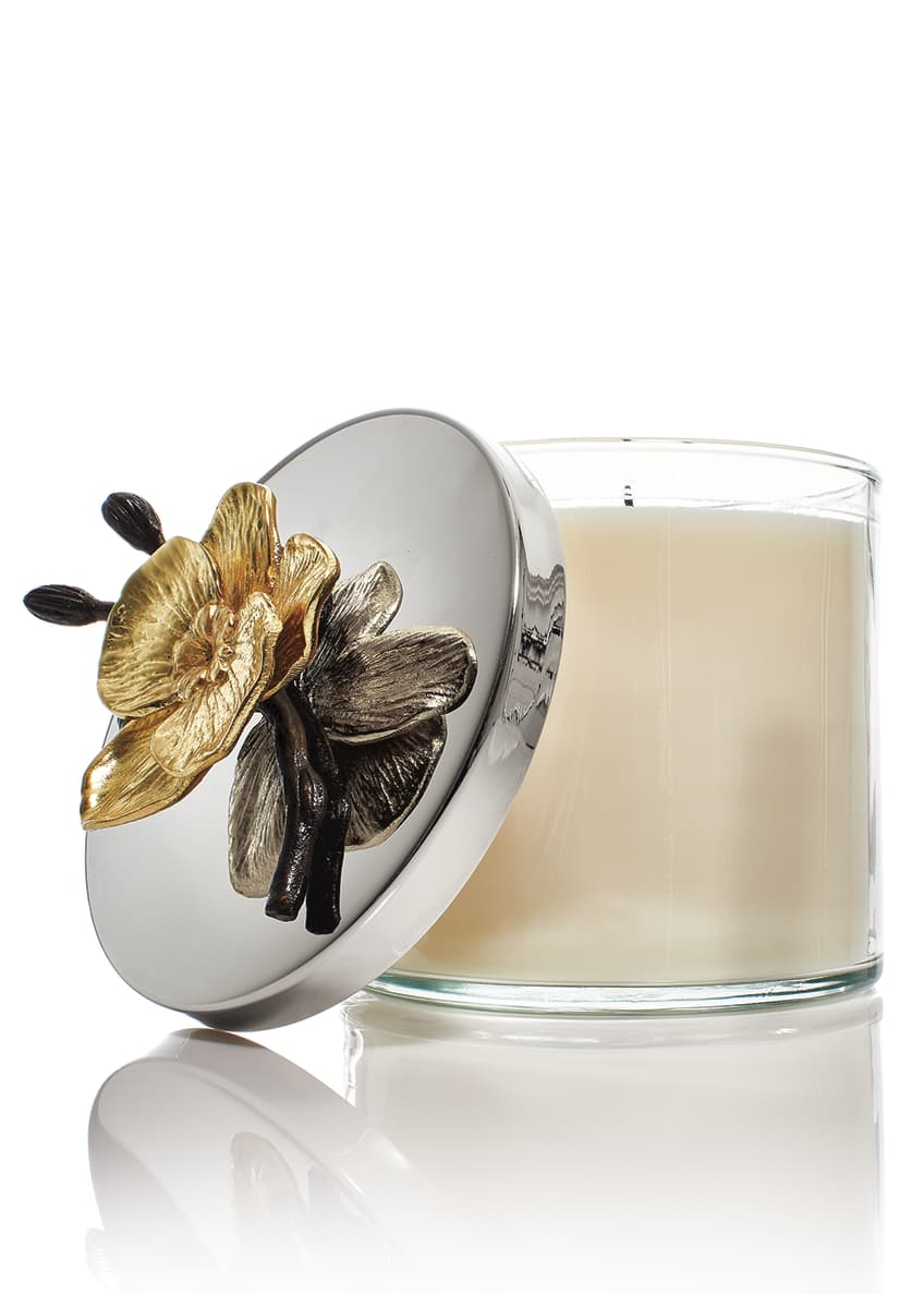 Image 3 of 3: Gold Orchid Candle