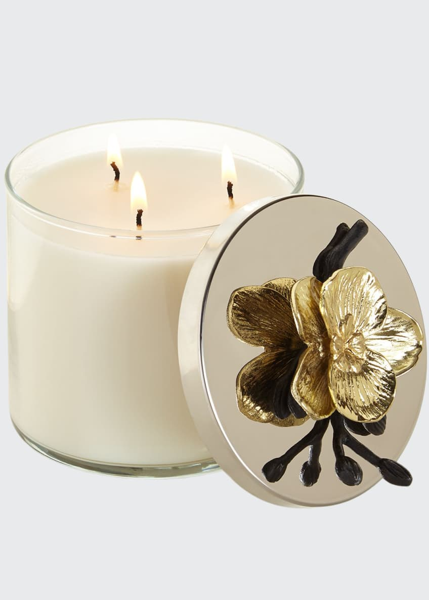 Image 1 of 3: Gold Orchid Candle