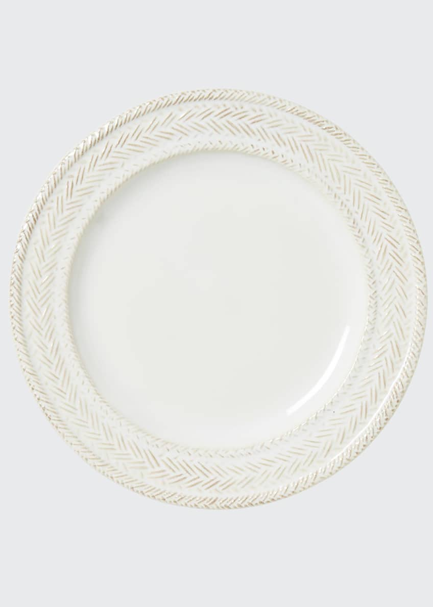 Image 1 of 2: Le Panier Whitewash Dessert/Salad Plate