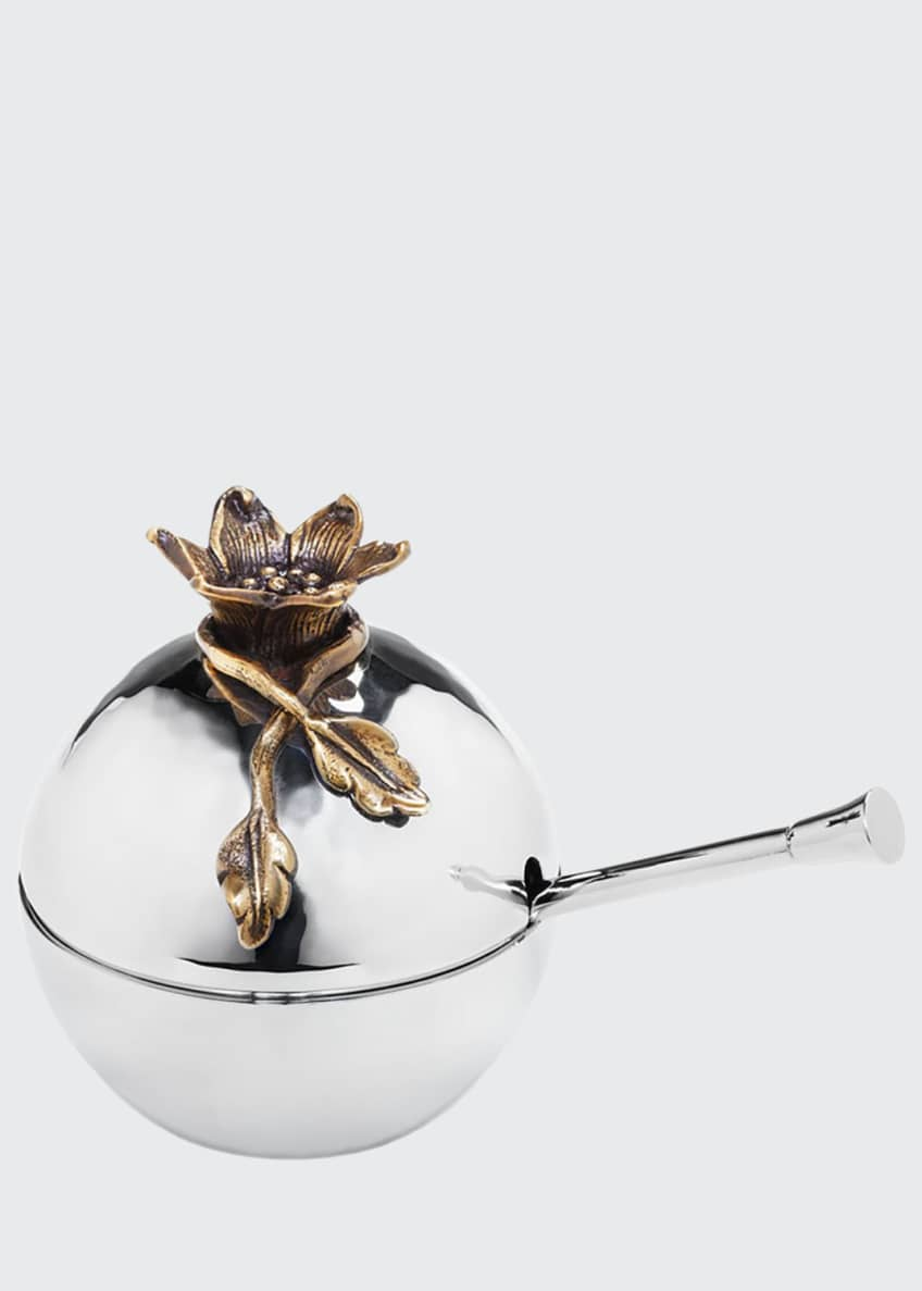 Mary Jurek Aviva Pomegranate Covered Bowl with Spoon