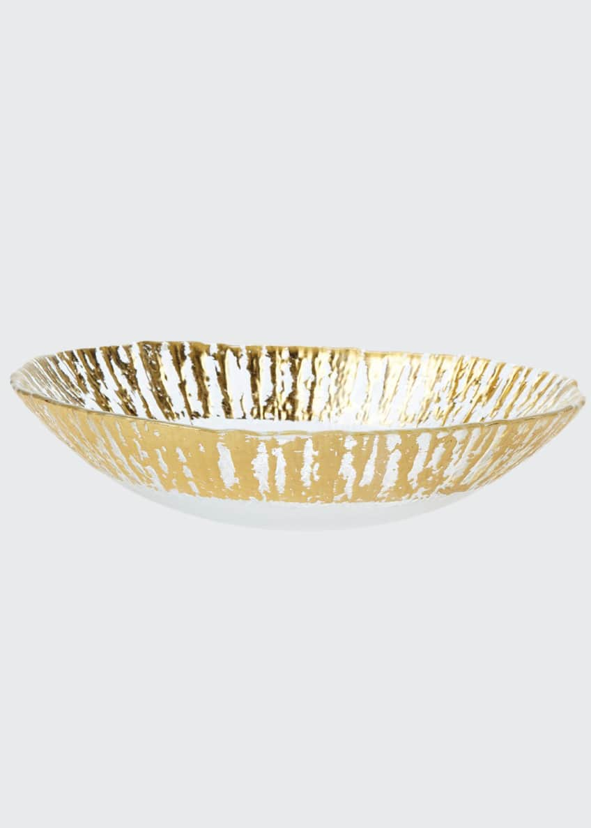 Image 1 of 1: Rufolo Glass Medium Oval Serving Bowl, Gold
