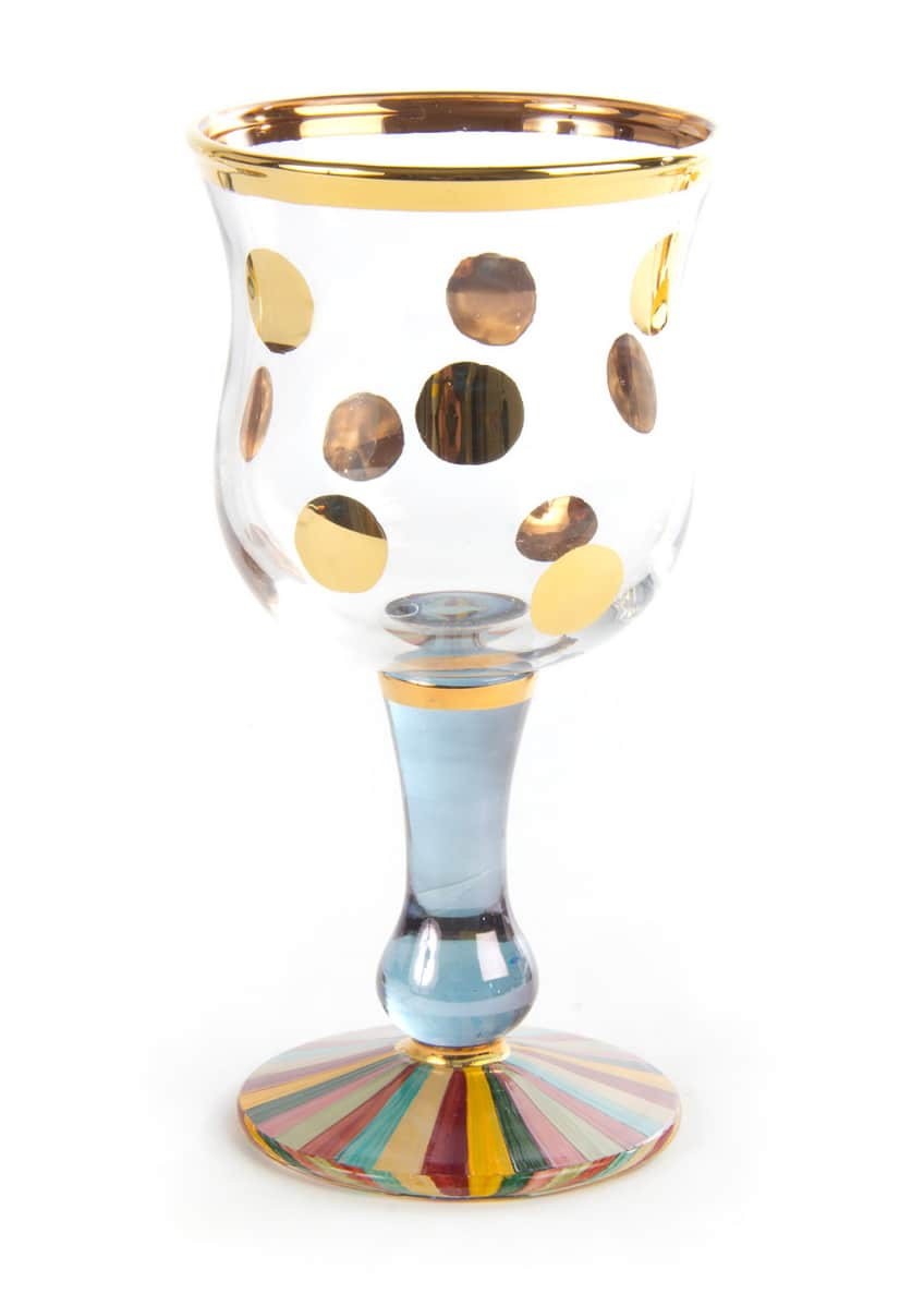 MacKenzie-Childs Foxtrot Wine Glass