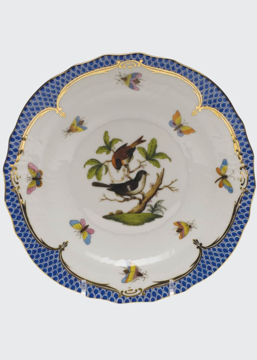 Image 1 of 1: Rothschild Bird Blue Motif 4 Salad Plate