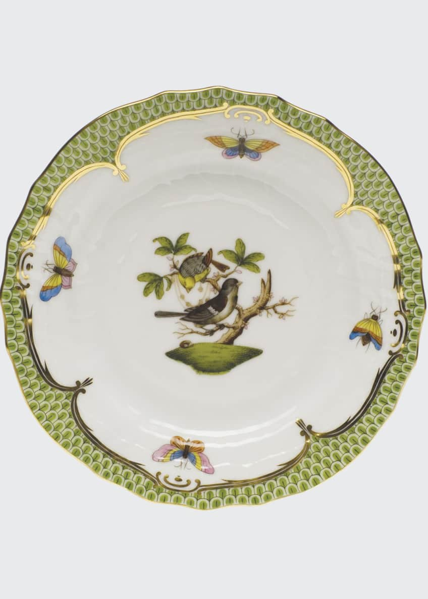 Herend Rothschild Bird Borders Green Bread & Butter