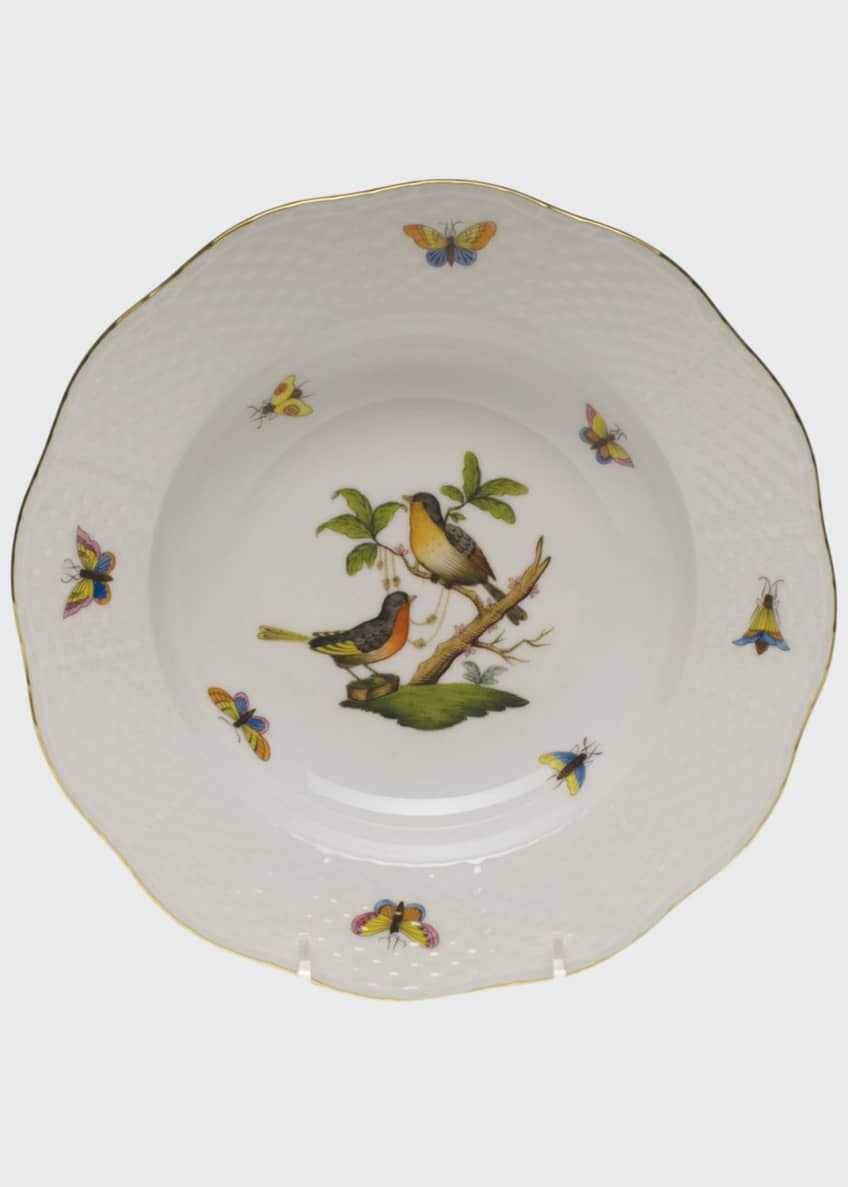 Image 1 of 1: Rothschild Bird Rim Motif 8 Soup Plate
