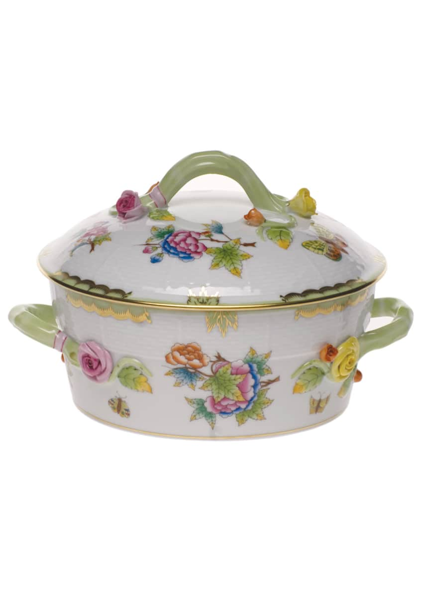 Herend Queen Victoria Vegetable Dish, Covered