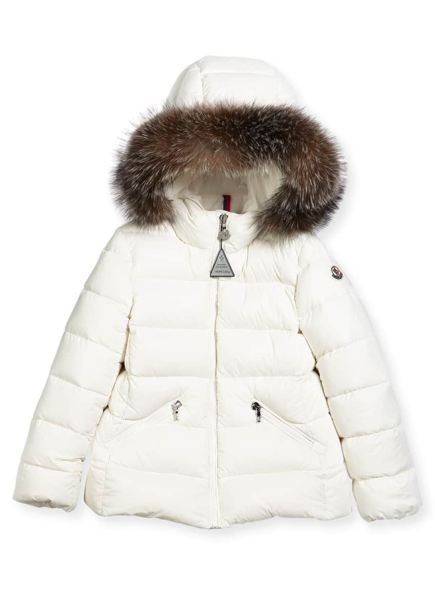 Image 2 of 2: Aimeet Quilted Coat w/ Fur Hood, Size 4-6