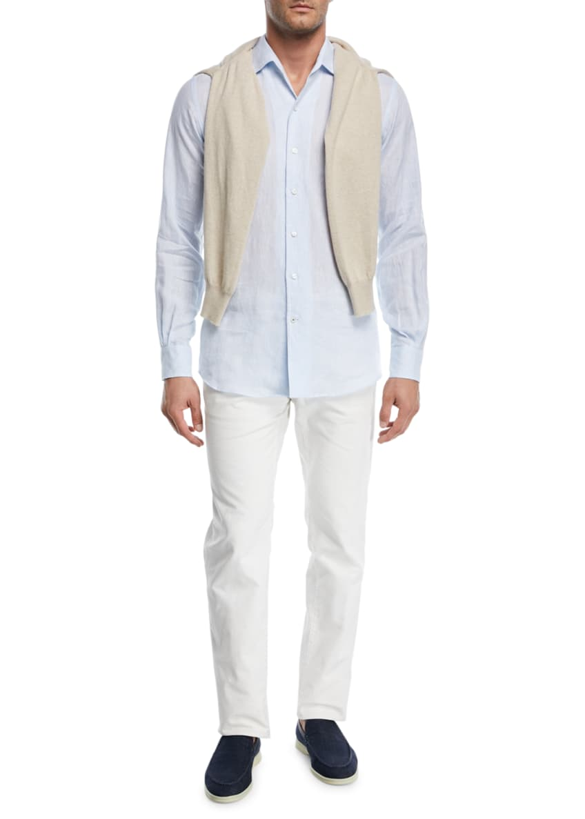 Image 3 of 4: Men's Andrew Long-Sleeve Linen Shirt