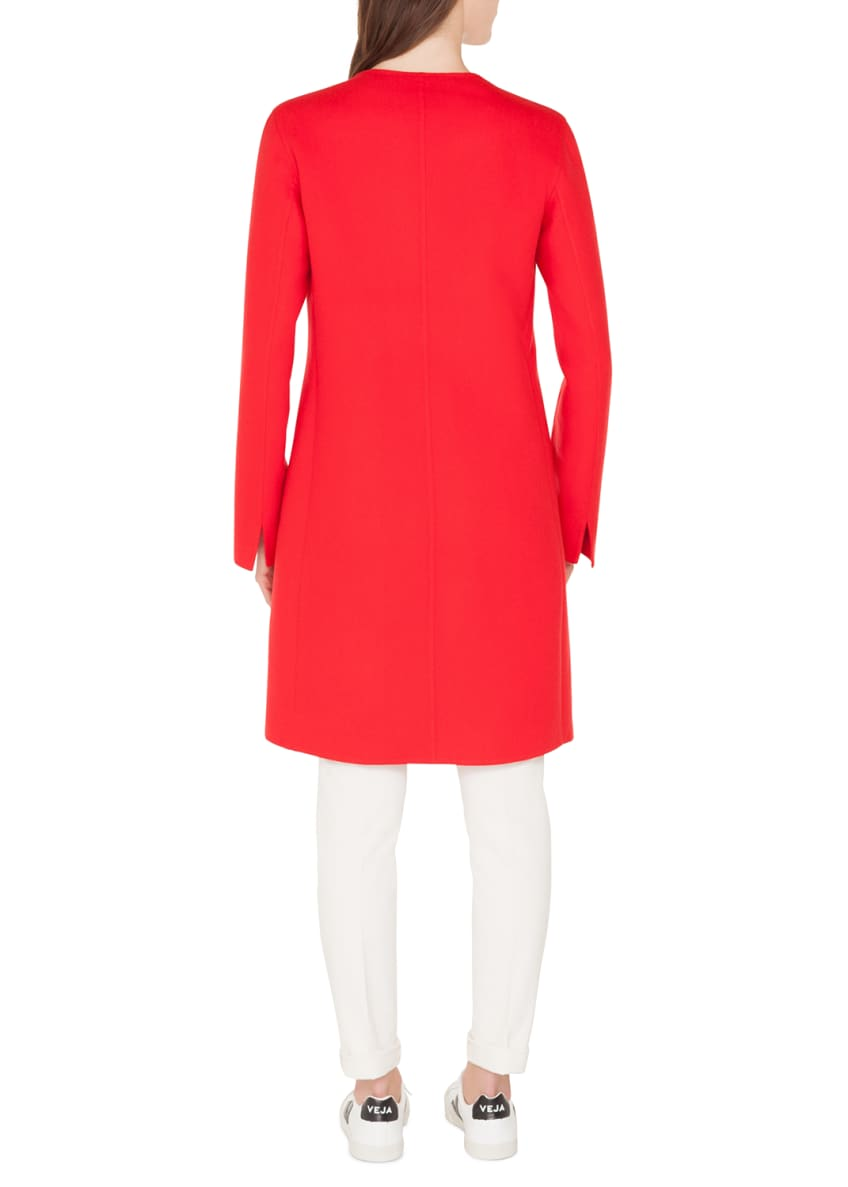 Image 5 of 5: Double-Face Cashmere Clean-Line Coat