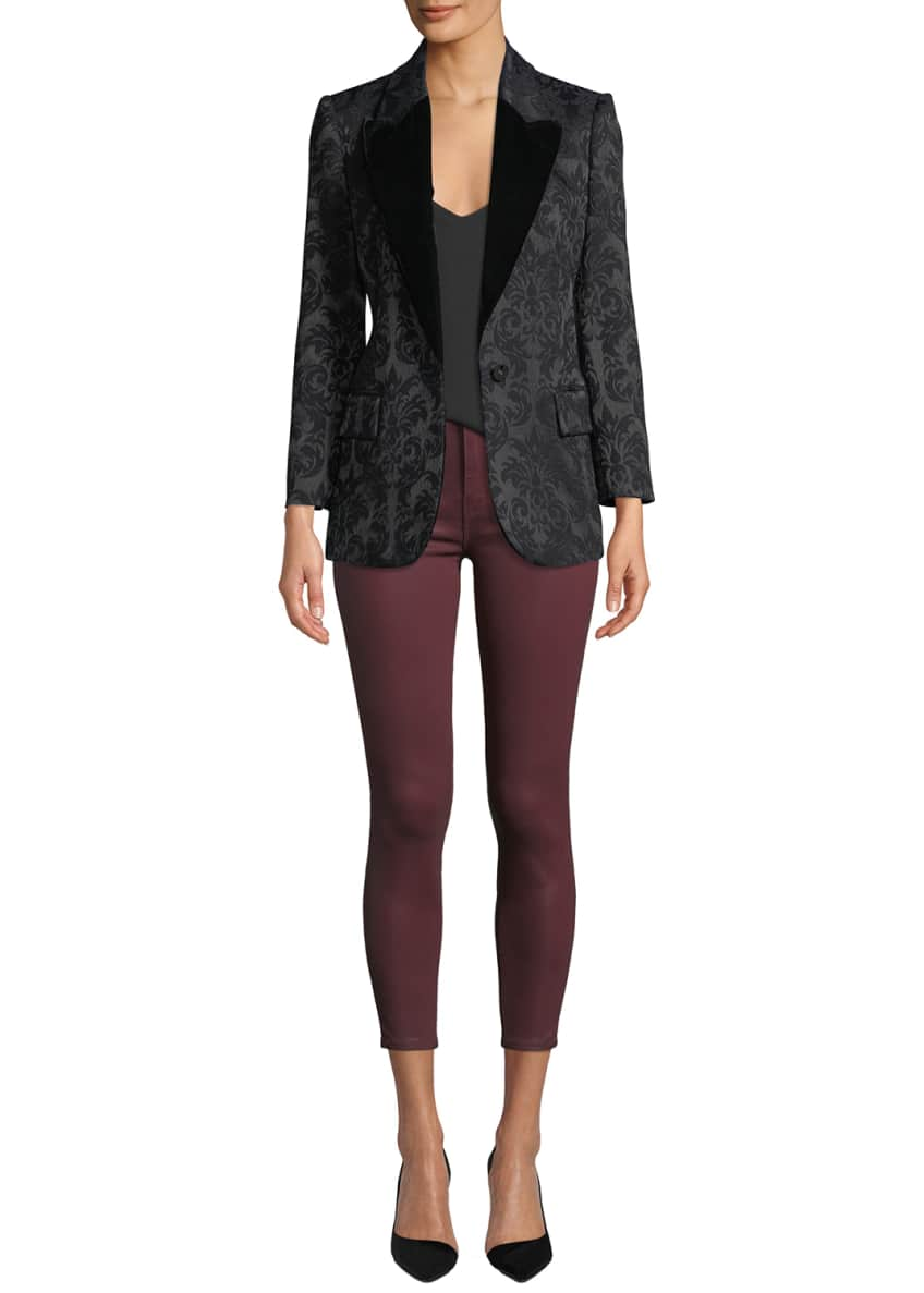 Image 1 of 2: Neval Jacquard Suiting Blazer with Contrast Lapels and Matching Items