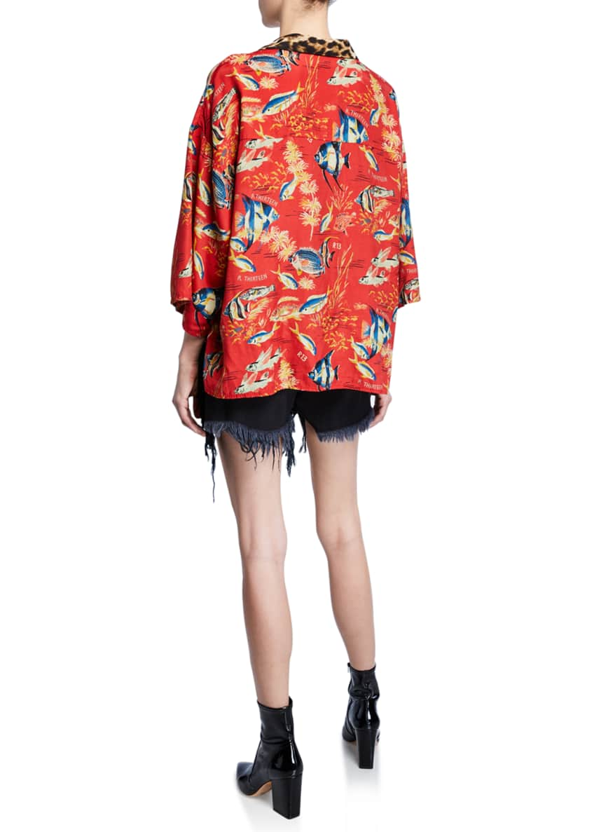 Image 4 of 4: Oversized Hawaiian Shirt