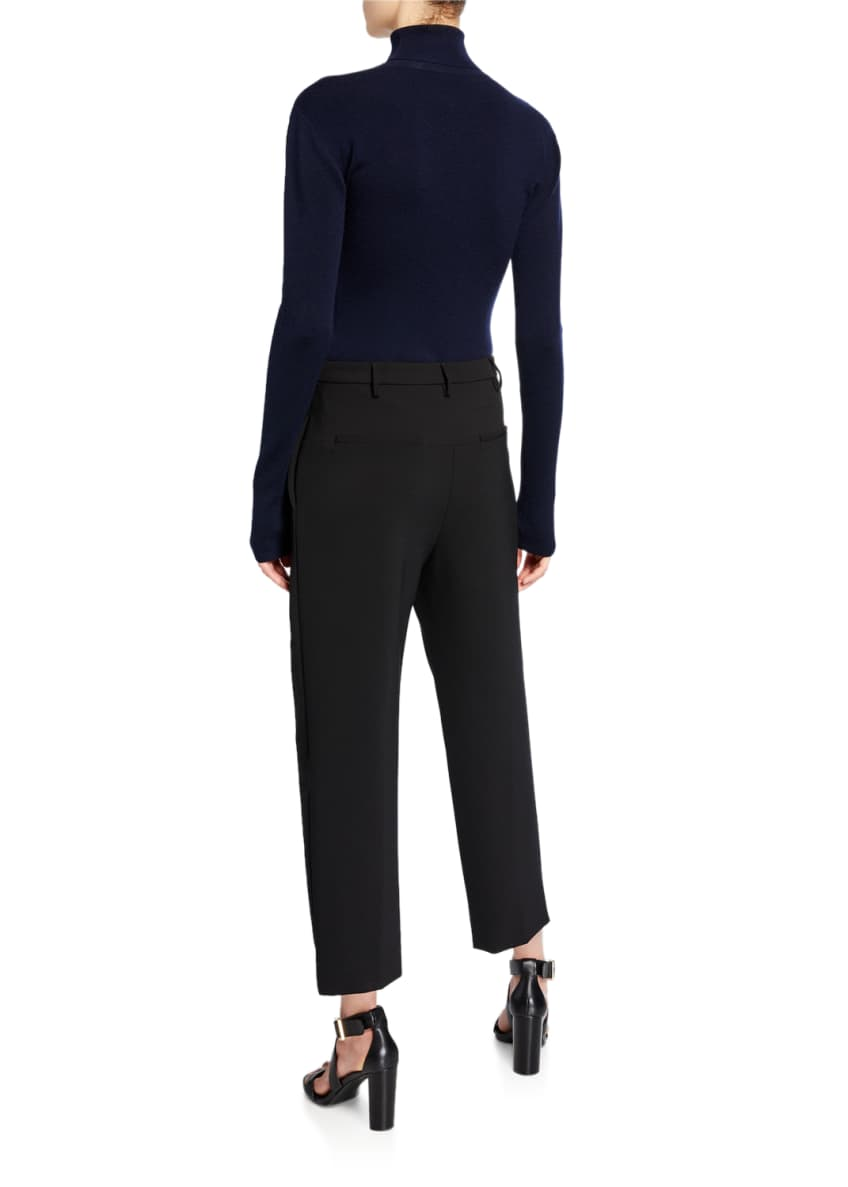 Image 4 of 4: Classic High-Rise Dense-Wool Pants