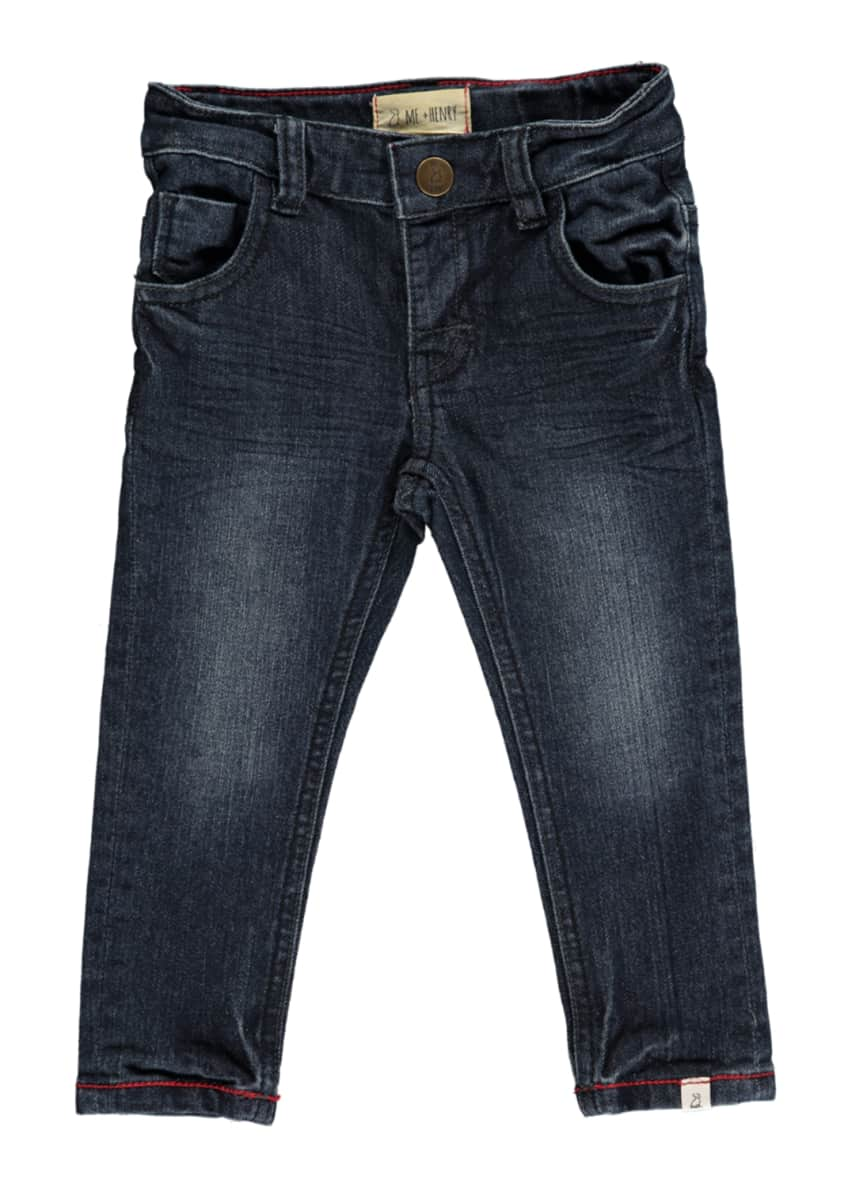 Image 4 of 5: Slim Fit Denim Jeans w/ Children's Book, Size 3T-10