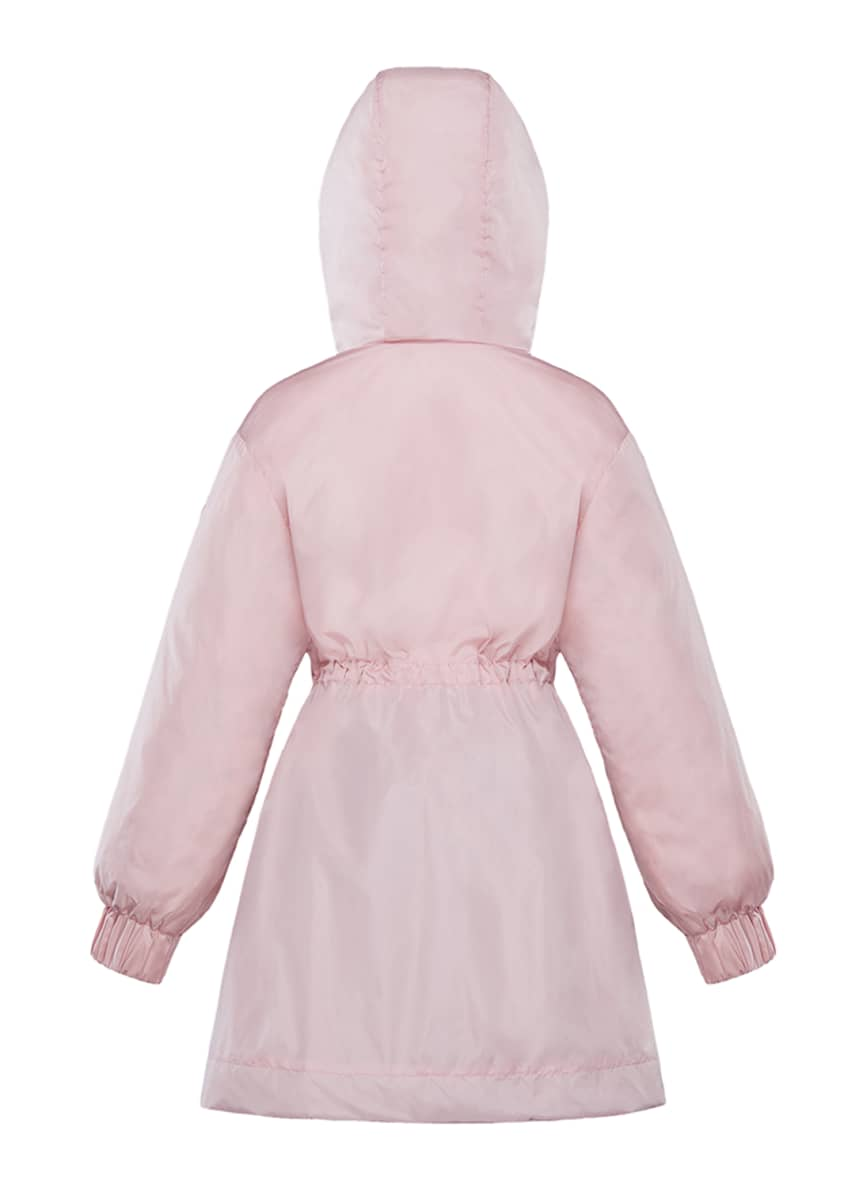 Image 4 of 4: Girl's Lika Ruched Trim Long Coat, Size 4-6