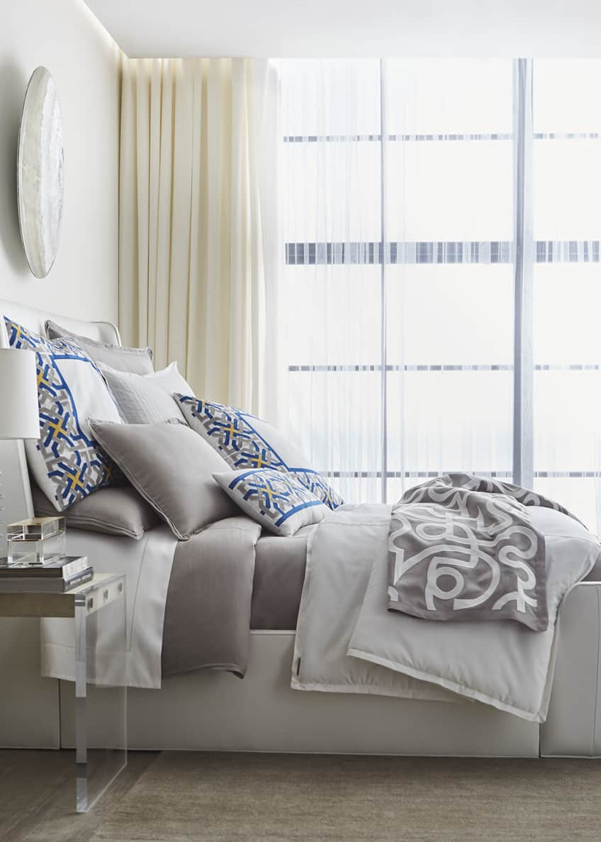 Image 2 of 3: Cassandre Linen King Duvet Cover