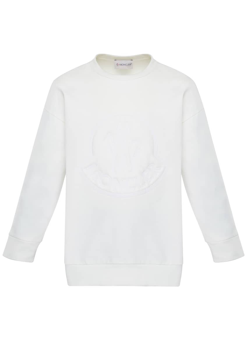Image 4 of 6: Girl's Long-Sleeve Embroidered Sweatshirt, Size 8-14