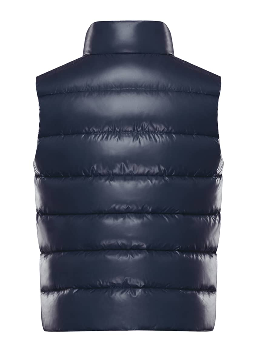 Image 5 of 5: Tib Laque Mini-Me Down Puffer Vest, Size 8-14