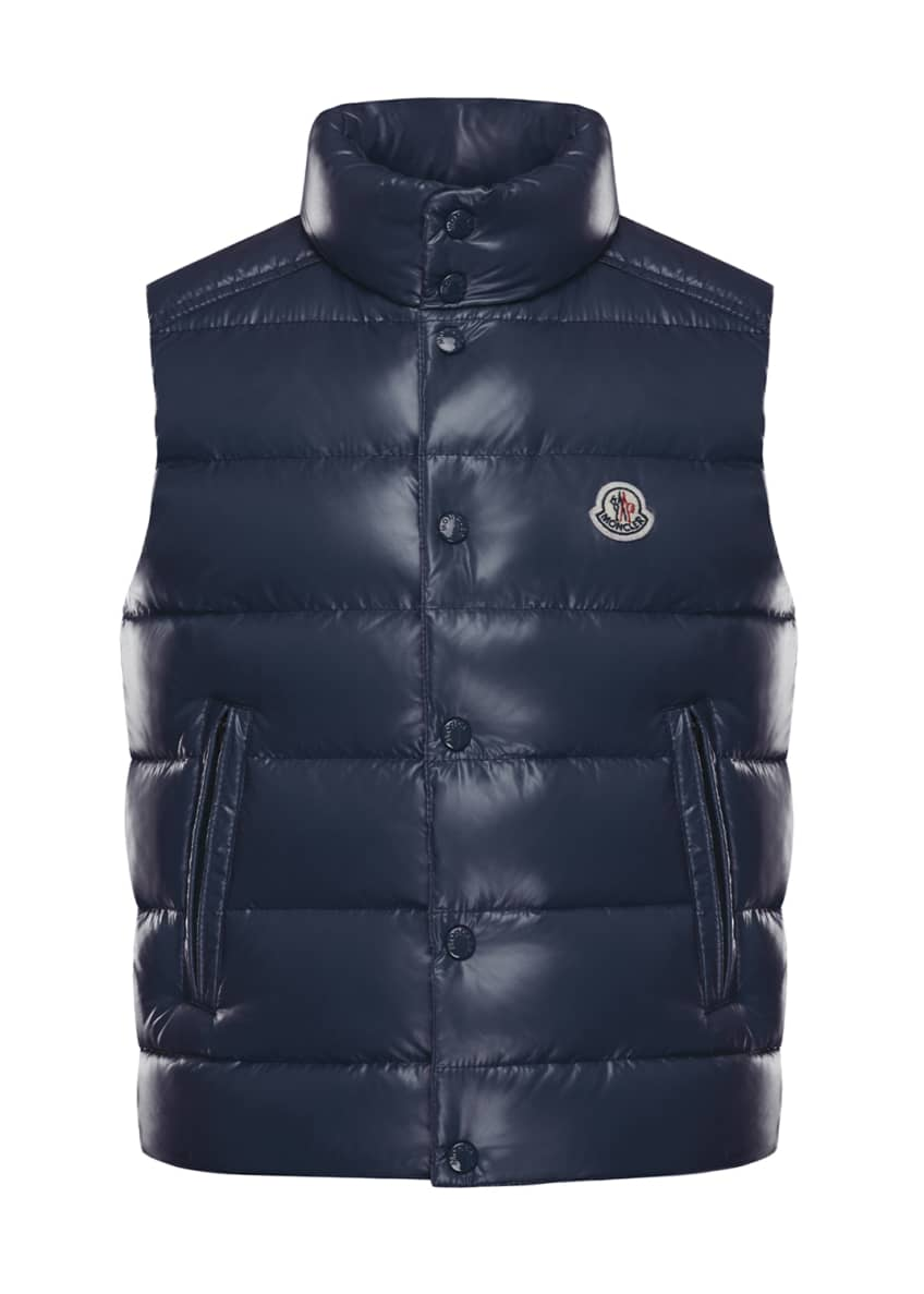 Image 4 of 5: Tib Laque Mini-Me Down Puffer Vest, Size 8-14
