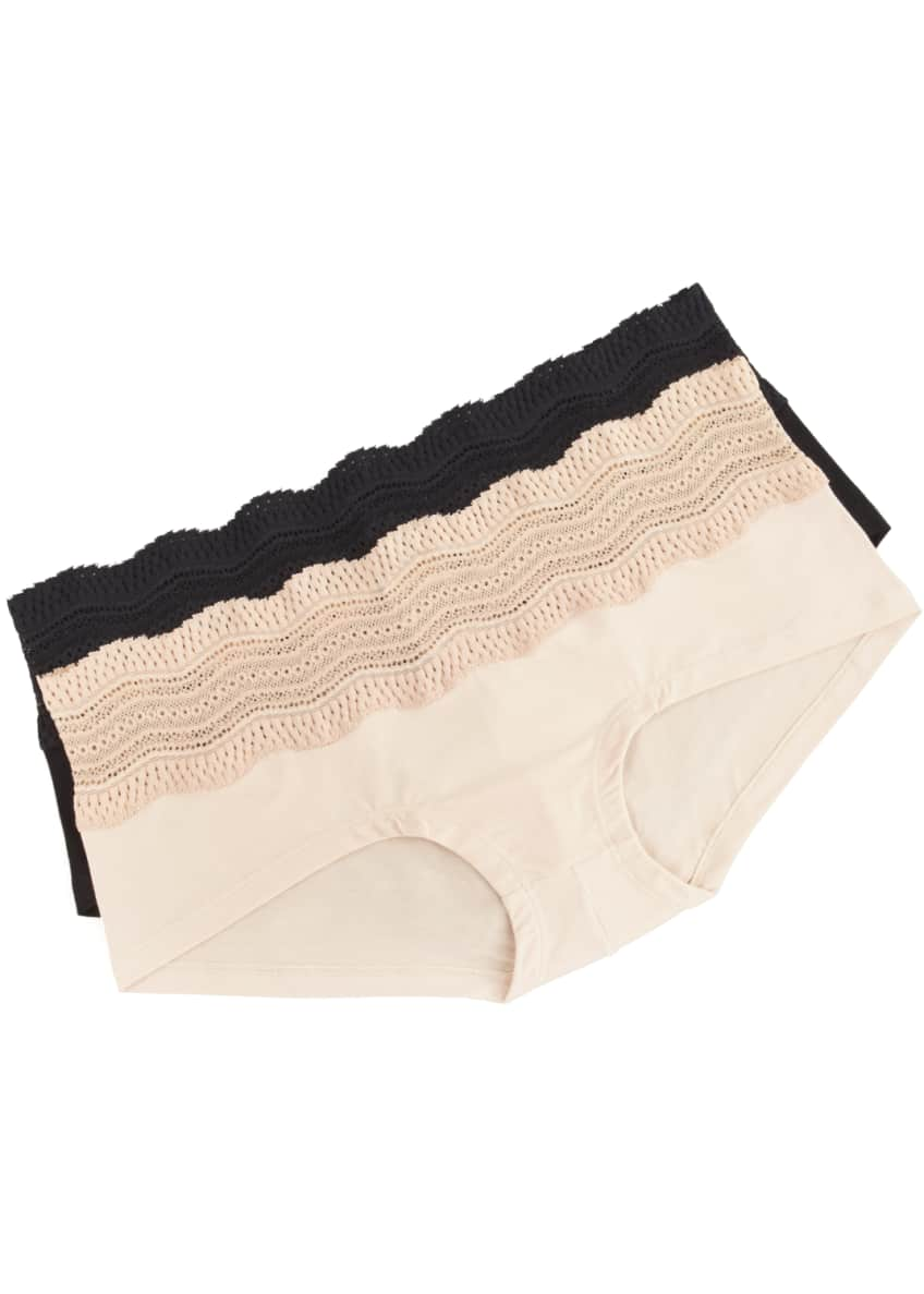 Cosabella Dolce Vita Soft-Lace Bra & Cotton Boyshorts