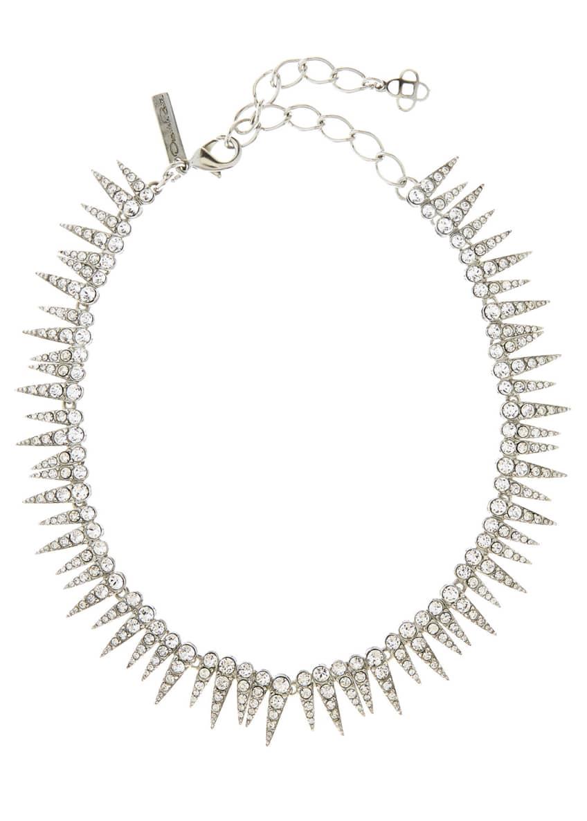 Oscar de la Renta Crystal Sea Urchin Necklace