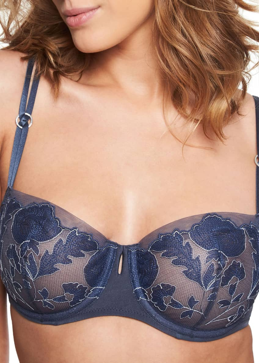 Chantelle Garnier Unlined Lace Demi Bra & Matching