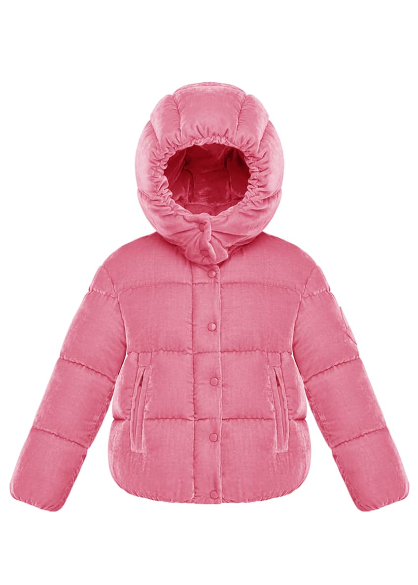 Moncler Caille Hooded Jacket, Size 4-6 & Matching