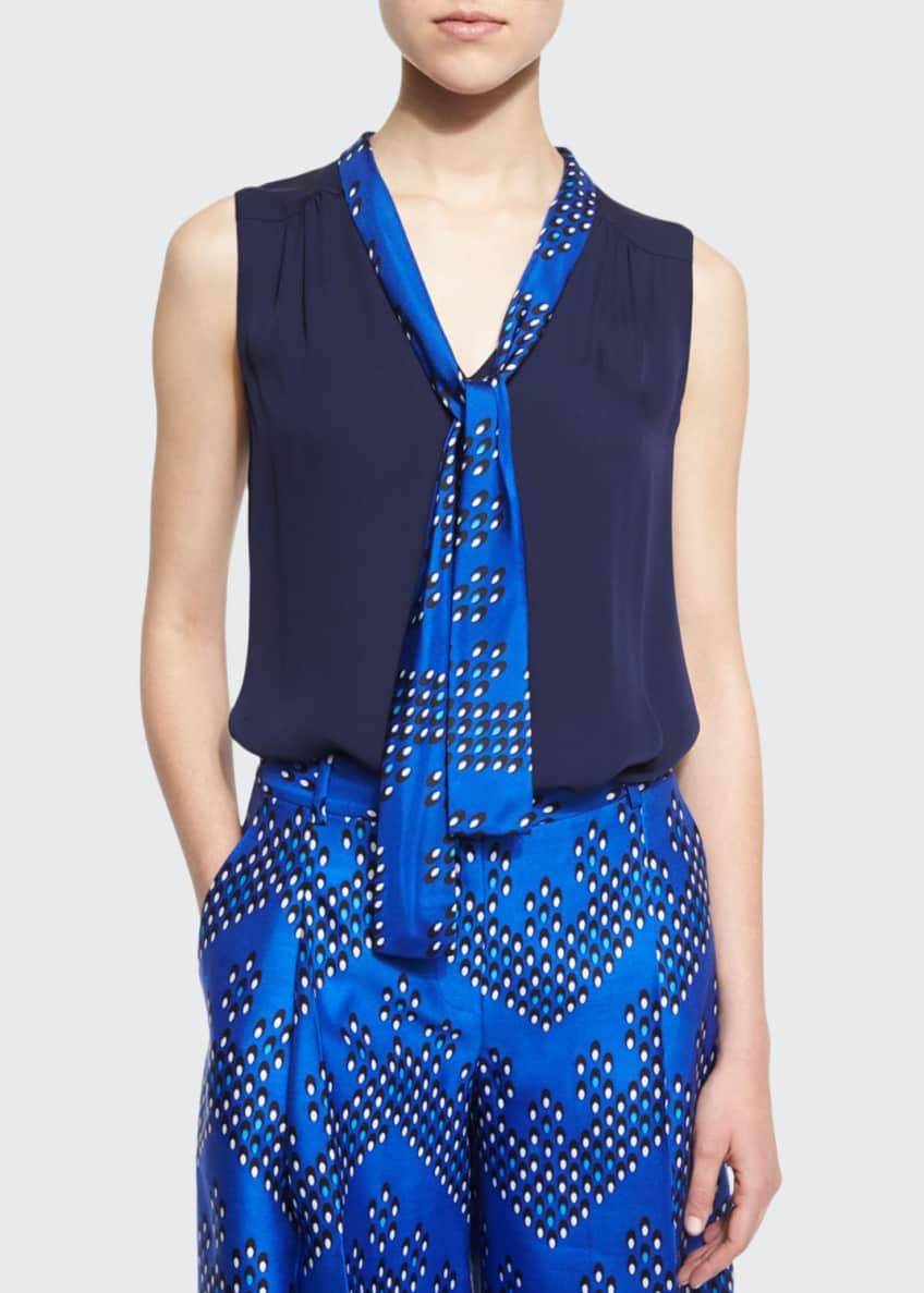 Diane von Furstenberg Britni Sleeveless Silk Top &