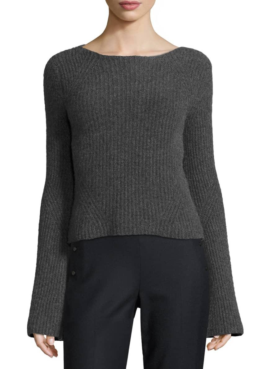 Elie Tahari Maeve Ribbed Cashmere Sweater & Audra