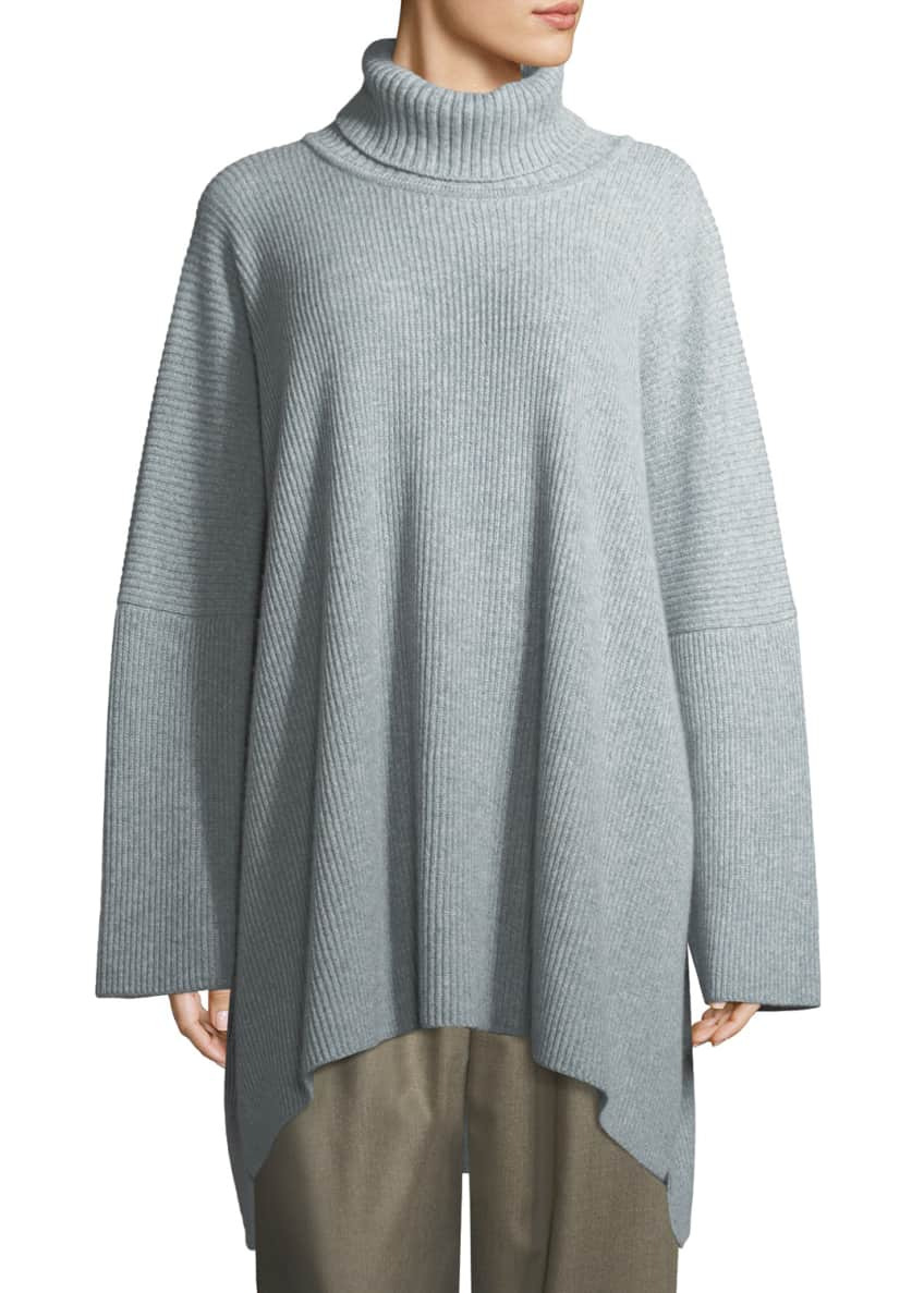 Eskandar Ribbed Knit Cashmere Turtleneck Sweater & Matching