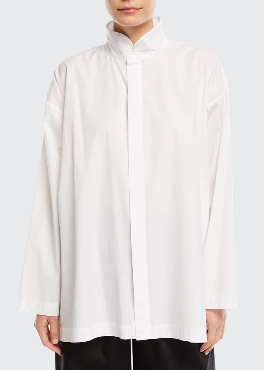 Eskandar Cropped Stretch-Poplin Japanese Trousers & Matching