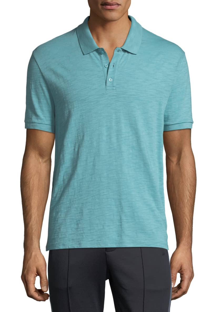 Vince Heathered-Jersey Classic Polo Shirt & Matching Items