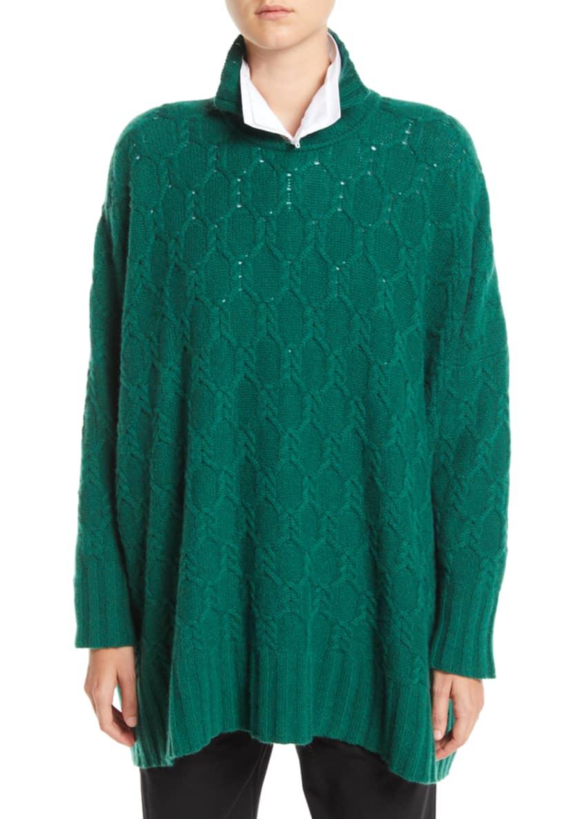 Eskandar High-Neck Cable-Knit Cashmere Pullover Sweater &