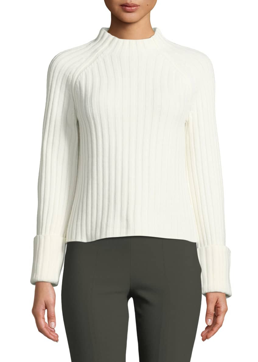 Vince Cuffed Mock-Neck Wool-Cashmere Sweater & Matching Items