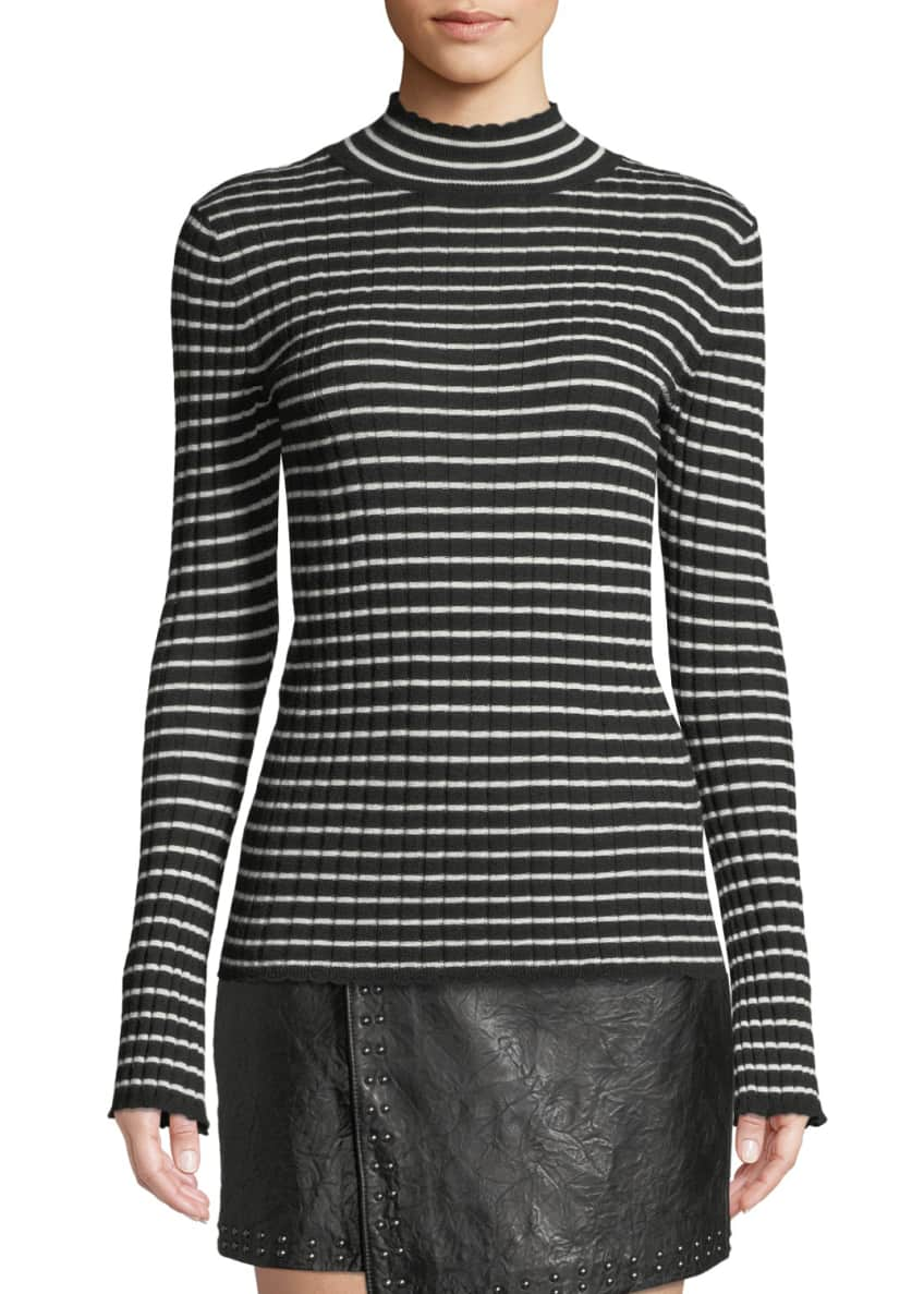 Joie Gestina Striped Mock-Neck Sweater & Matching Items